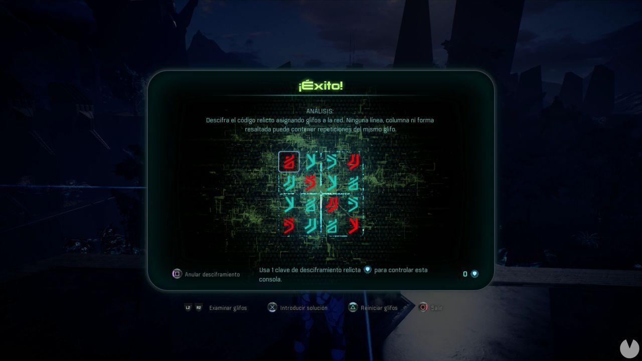 Rompecabezas Relicto 3 HAVARL Solución
