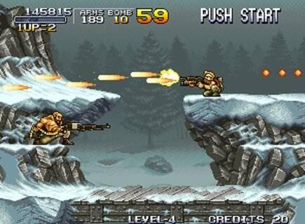 El nivel de la montaña incluía un duelo contra el Rambo francés.