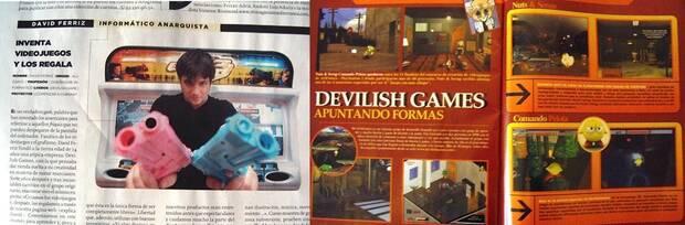 Varios recortes de prensa hablando de Devilish en 2004.