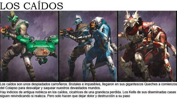 Enemigos Destiny Guía