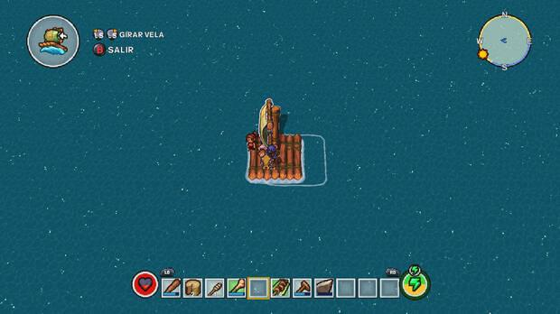 Cuando desbloqueemos la balsa lograremos llegar a nuevas islas con diversas características.