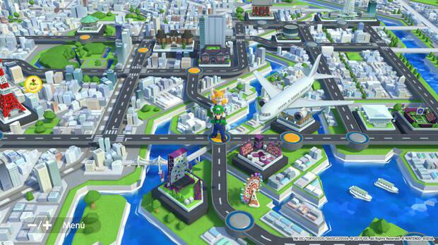 In Story mode we can wander through minimaps inspired by the current city of Tokyo ... and the one corresponding to the year 1964.