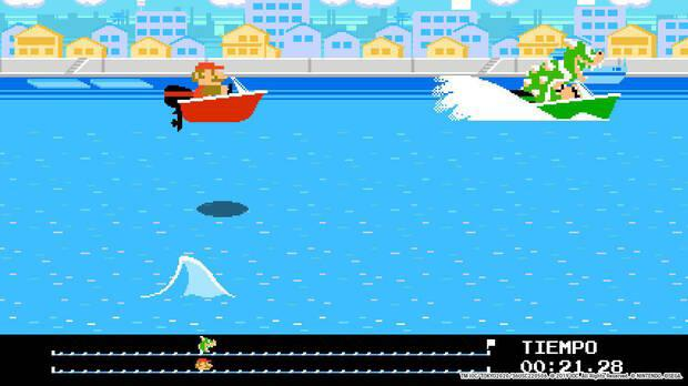 The ten extra mini-games that we can unlock have seemed sensational.  This boat chase down the Sumida River is very funny.