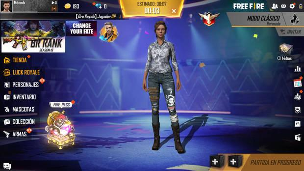 'Garena Free Fire' cuenta incluso con el estandarizado 'lobby' de los 'battle royale'.
