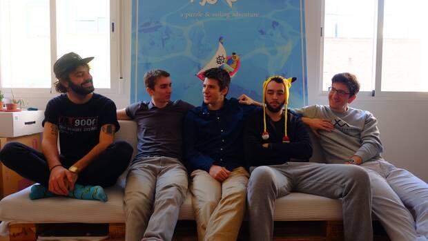 Team Gotham en 2017, durante el desarrollo de 'Solo'. De izquierda a derecha: Juan de la Torre, Daniel Garc