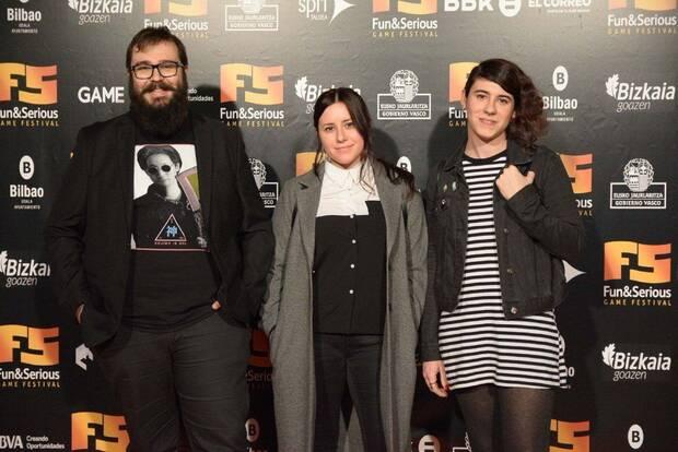 Deconstructeam en la entrega de premios del Fun & Serious en 2018.