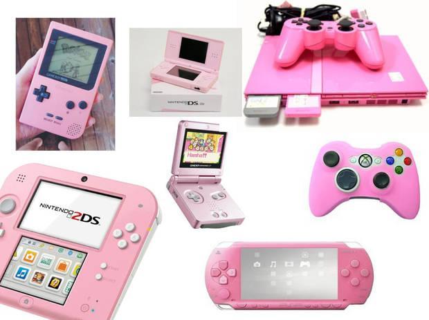 Casi todas las consolas de los últimos 20 años, especialmente las portátiles, han tenido una versión en color rosa chicle.