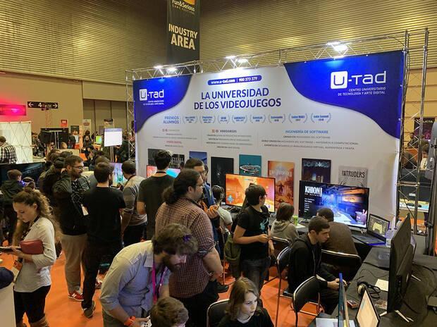 El estand de U-tad en Fun & Serious Games Festival de Bilbao en diciembre de 2019.