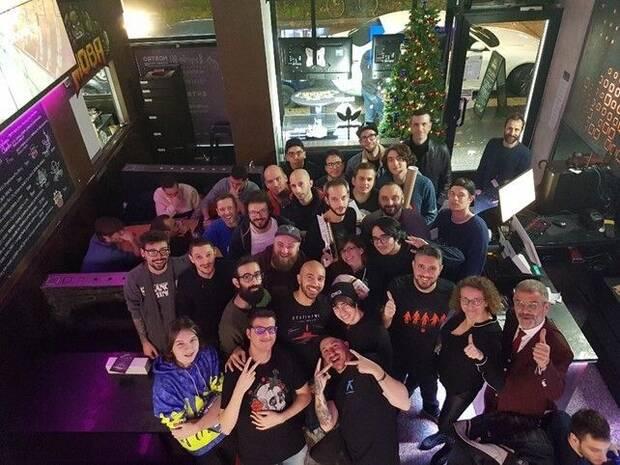 Con la comunidad italiana de 'Destiny', en 2019.