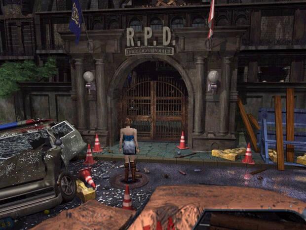 La icónica comisaría de 'Resident Evil 2' era uno de los escenarios que tendríamos que explorar.
