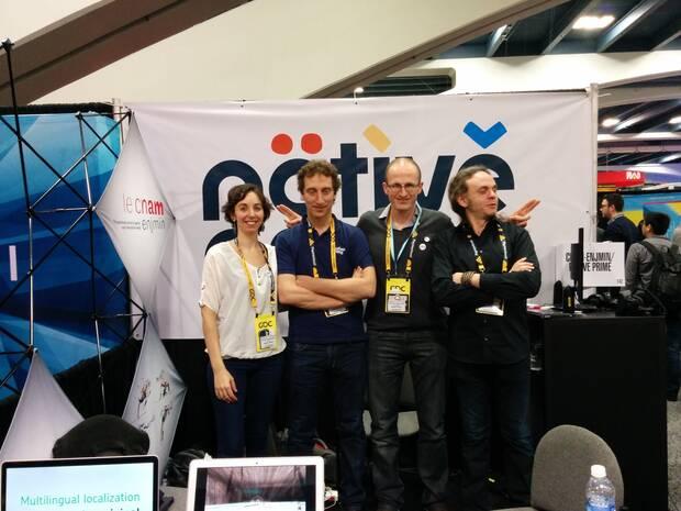 'En la GDC de San Francisco con mis socios de Native Prime Nicola, Vincent y Friedrich', dice D