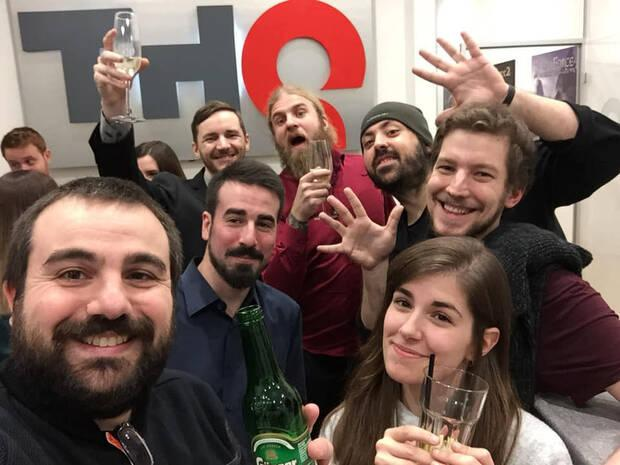 El equipo de THQ Nordic Barcelona - Alkimia Interactive en 2019.
