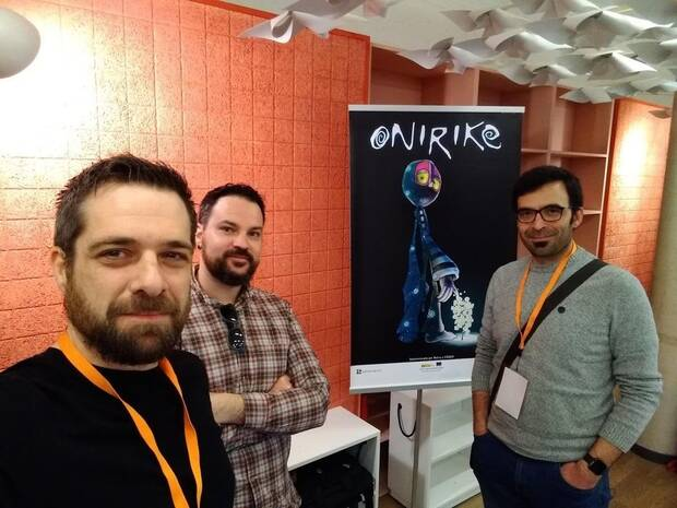 Ferriz en el Valencia Indie Summit de 2019 con Javier Belze y Antonio Dur