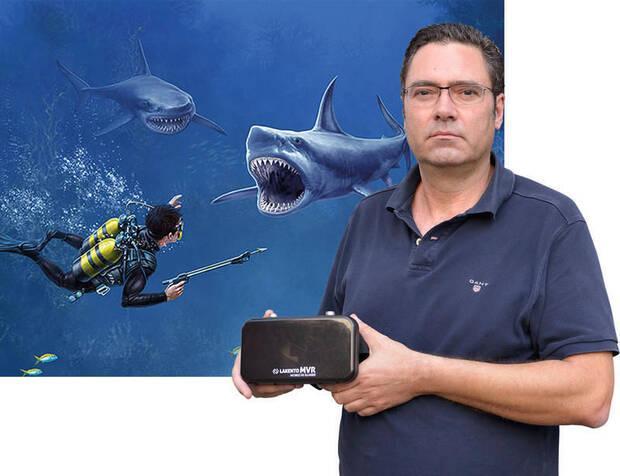 Sharks VR es uno de los juegos que Ruiz ha publicado; se basa en una fase de Army Moves.