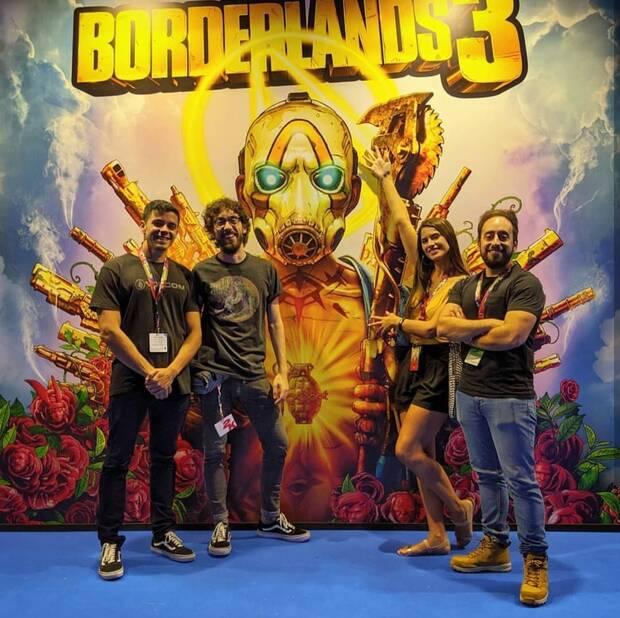 Villasante ha participando en el lanzamiento de otros juegos de 2K como 'Borderlands 3'. En la imagen, de izquierda a derecha: Jorge Bardaj
