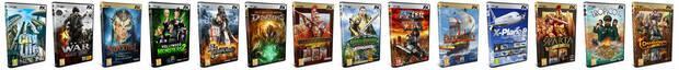 Algunos de los juegos editados por FX Interactive.