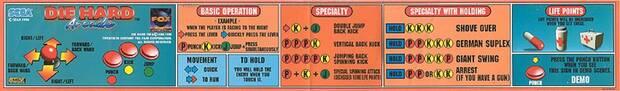 El catálogo de llaves de 'Die Hard Arcade' era impresionante, para tratarse de un brawler.