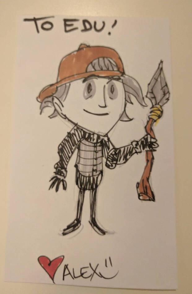 Verz dibujado por Alex Savin, el artista de 'Don't Starve'.