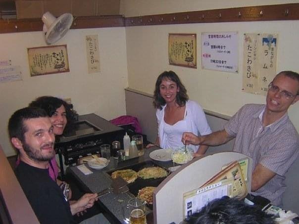 Tokio 2006, durante el testeo de Children of Mana 'con el equipo de FIGS [franc