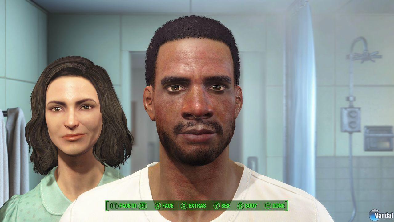 presentazione di Fallout 4, creazione personaggi uomo o donna