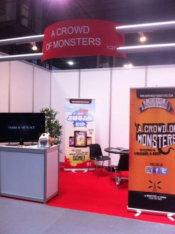El primer estand en Gamelab de 'A Crowd of Monsters'.