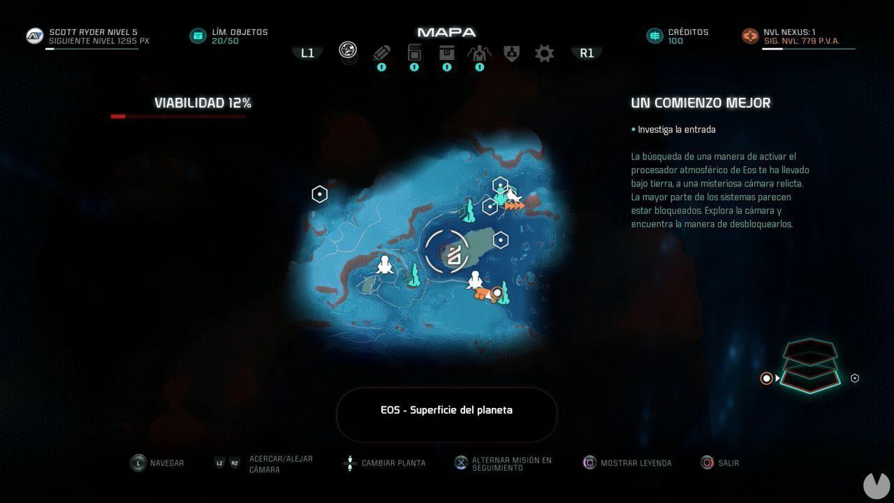 Rompecabezas Relicto 2 EOS Localización
