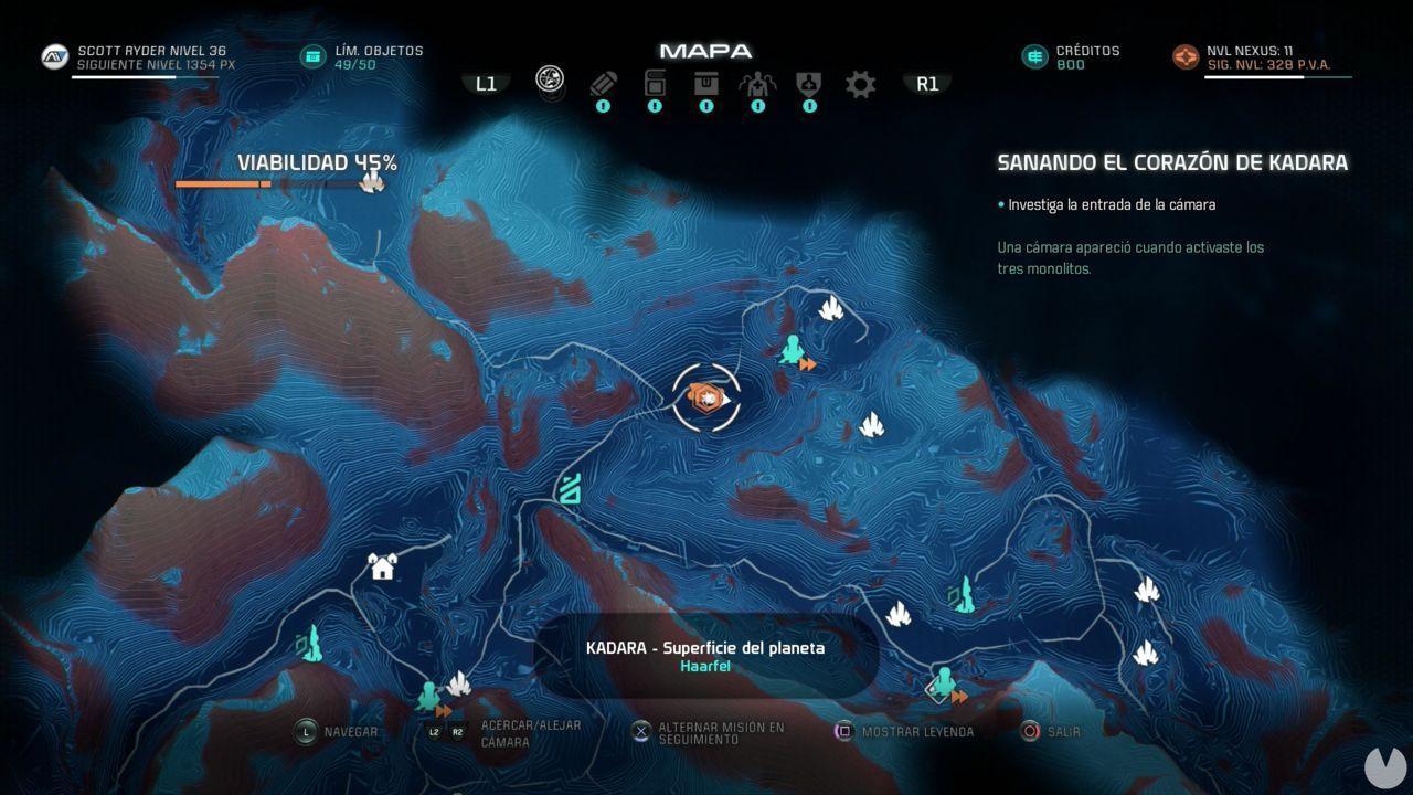 Rompecabezas Relicto 2 KADARA  Localización