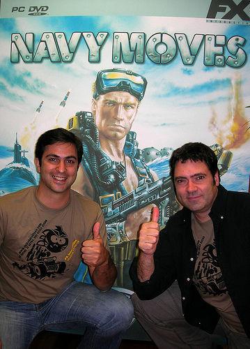 Ruiz con Manuel Moreno, responsable de comunicaci