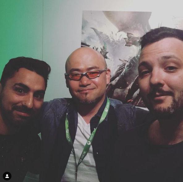 Con Hideki Kamiya en Gamescom 2017.